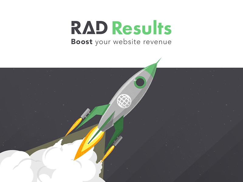 RAD Results illustration rocket flat space