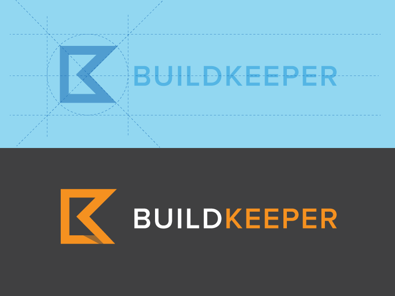 BuildKeeper logo construction geometry