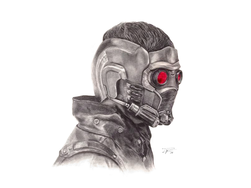 """""""Not a Total Dick"""" art portrait guardians of the galaxy illustration drawing starlord sci fi"""