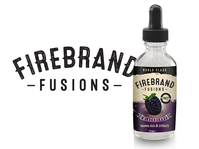 Firebrand Fusions Concept logo product label texture