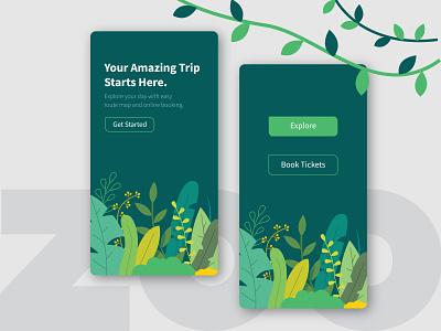 Zooapp_Concept Design application mobile adobexd illustraion uidesign ui concept appdesign app
