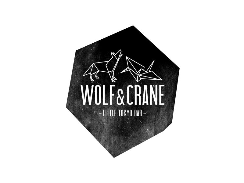 Wolf & Crane Logo branding identity logo