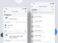 Leads mobile app