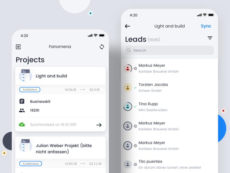 Leads Mobile App leads ios mobile design ux ui