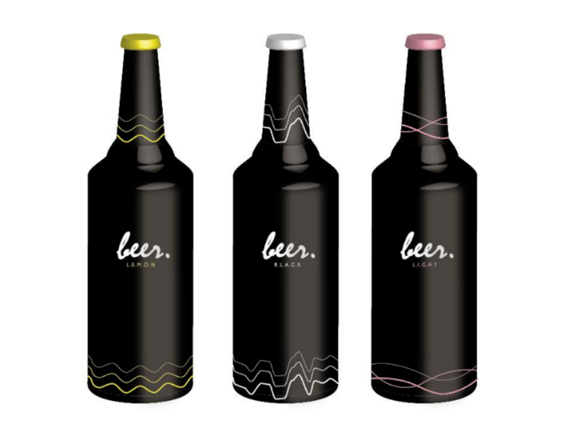 Beer bottle design bottle packaging graphic design