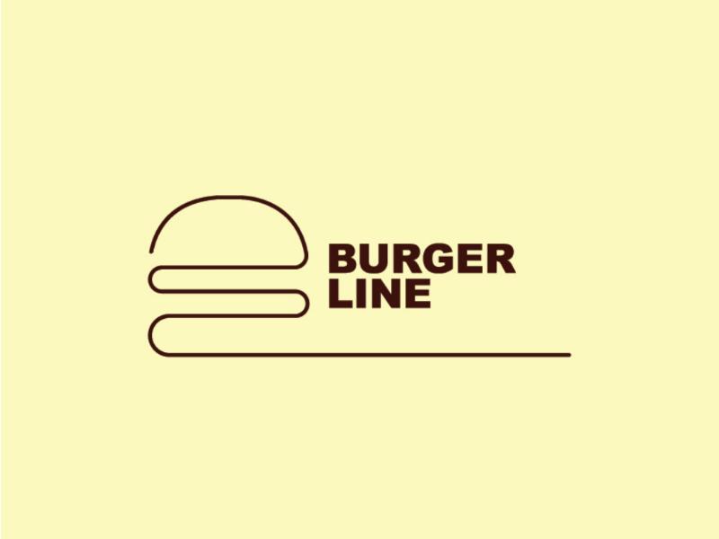Burger Line branding illustration gdaz azerbaijan baku food restaurant burger design logo