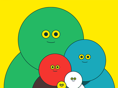 Splendid Weirdos shape vector family design character awkward cute