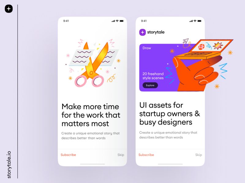 Draw Illustrations freehand product application app app design ui branding storytale illustration colorful design