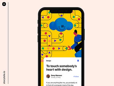 Superb Illustrations ⚡️ characters landing superb app design ui vector contrast storytale colorful illustration design