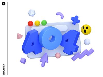 Boom Illustrations 💣 presentation landing website web error404 error 404 ui volumetric 3d storytale colorful illustration design