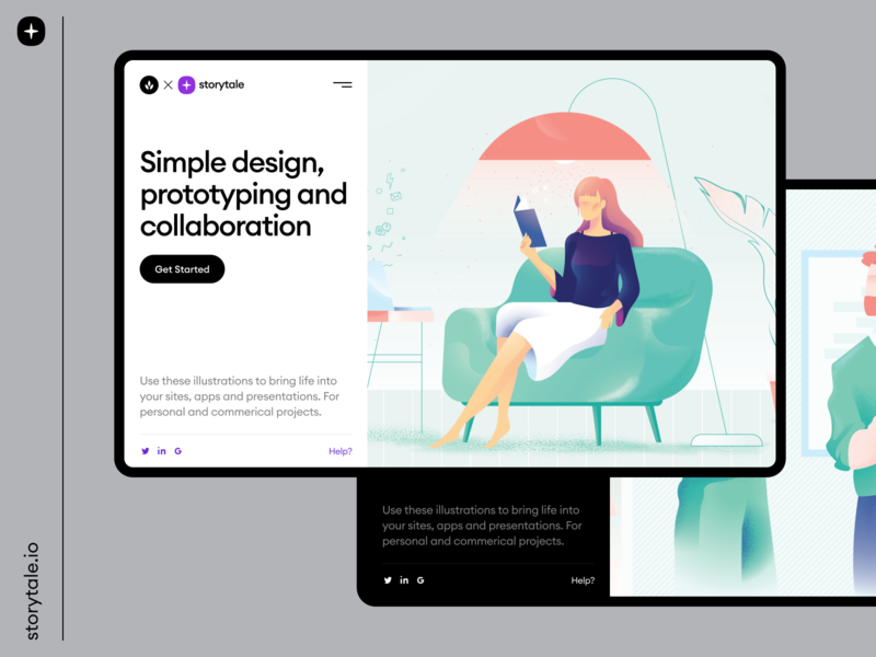 Nature Illustrations 🍃 presentation webdesign web ui sharp vector branding storytale colorful illustration design