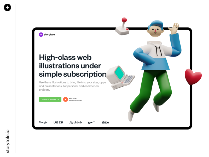 Superscene Constructor 💚 card landing page product page welcome constructor product webdesign website web volumetric 3d ui storytale colorful illustration design