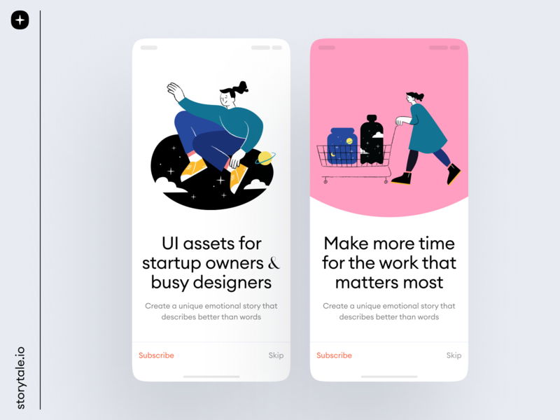 Open Space Illustrations 🪐 product vector app design web ui branding storytale colorful illustration design