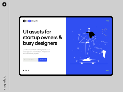 OSLO Illustrations 2 💙 delivery oslo product webdesign web typography ui vector branding colorful storytale illustration design