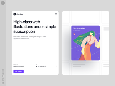 Storytale 🥰 product silky web ui vector colorful storytale illustration design