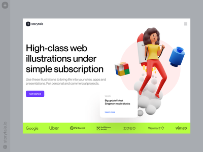 Humanity 3D Illustrations 🚀 humanity contrast ux 3d colorful typography web ui illustration storytale design