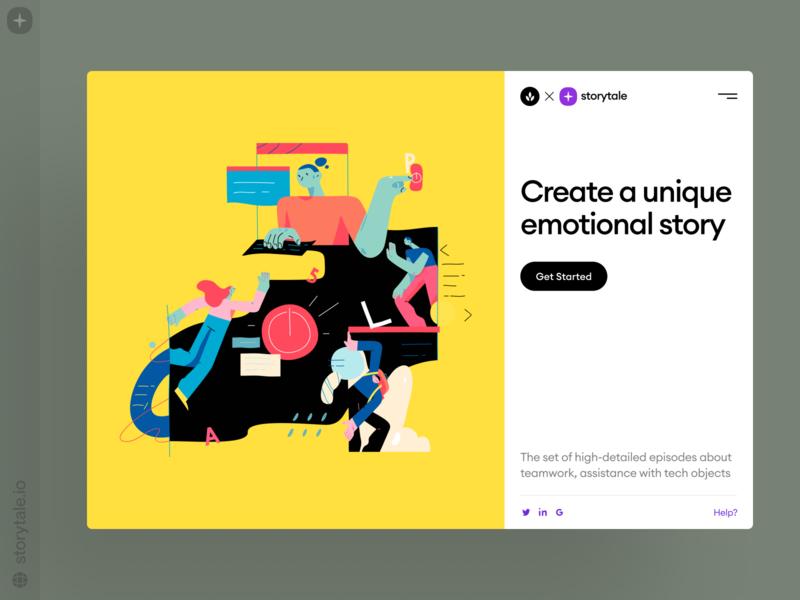 NEW: Brainstorm Illustrations ⚡️ create work technologies tech business startup team tasks workflow temwork brainstorm product web contrast ui vector colorful storytale illustration design