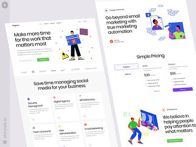 Blink Illustrations ✨ blink typography product web contrast ui vector colorful storytale illustration design