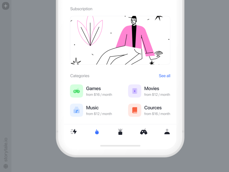 OSLO 2 Illustrations 💥 screen subscription bestseller oslo app product app design ui vector colorful storytale illustration design