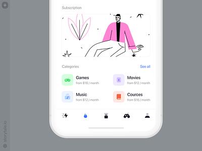 OSLO 2 Illustrations 💥 screen subscription bestseller oslo app product app design ui vector colorful storytale illustration design