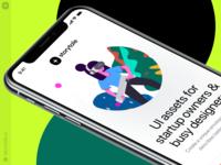 Stubborn Illustrations 😎 virtualreality vr stubborn iphonex mockup app design web ui vector colorful storytale illustration design