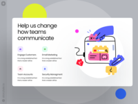 Nuts Illustrations 🧩 nuts create puzzle team construction typography product web ui vector colorful storytale illustration design