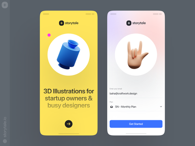 Humanity Illustrations ✌️ objects shapes icons humanity app design 3d product ui colorful storytale illustration design