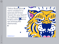 New Tattoo Illustrations 🐯 ❤️ bright outline tiger oldschool tattooos tattoo contrast branding web product vector ui colorful storytale illustration design