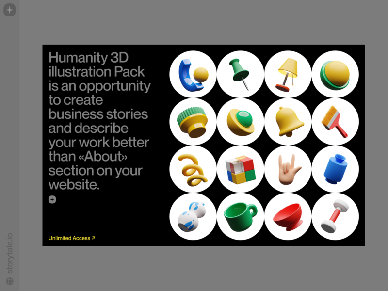Humanity 3D objects ❤️ illustrations stylish icons humanity bright web product volumetric 3d objects uxui ui colorful storytale illustration design