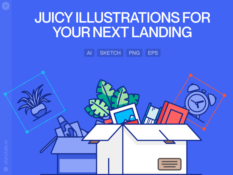 Juicy Illustrations 🍍 bright outline juicy web product vector ui colorful storytale illustration design