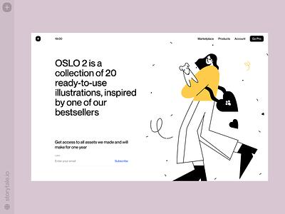 OSLO illustrations 2 🖤 bestseller oslo web product vector ui colorful storytale illustration design