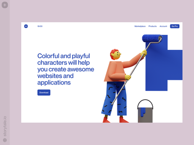 3DDD illustrations 🖌 3ddd characters 3d contrast web ui product colorful storytale illustration design