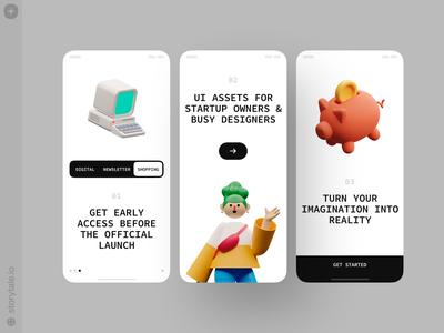 Superscene 🌟 superscene ux app design 3d product ui colorful storytale illustration design