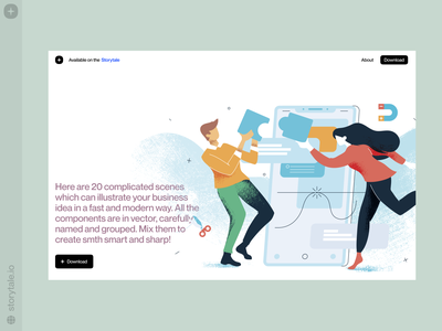 Smartsharp Illustrations pack calm tender illustration storytale colorful gradient flat vector product characters illustrations uxui ux ui design