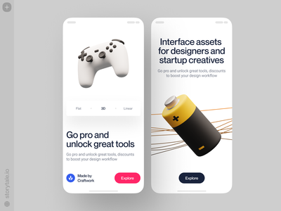 Things illustration storytale superscene 3d art volumetric 3d landing app design application app presentation product  web characters illustrations uxui ux ui design