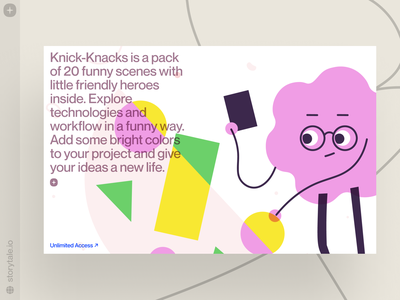Knick-Knacks Illustrations 🤩 craftwork cool contrast web vector ui colorful storytale design illustration