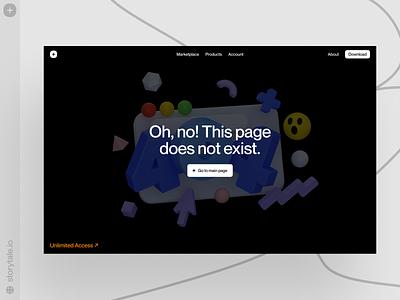 Error 404 ❌ Boom illustrations error404 404 error 404 boom volumetric 3d product web ui colorful storytale illustration design