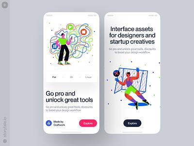 Blink illustrations 🌟 product design branding app design product ui vector colorful storytale illustration design