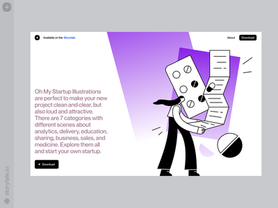 Oh My Startup Update 🌟 sales business pills medicine update med startup ux product web vector ui colorful storytale illustration design
