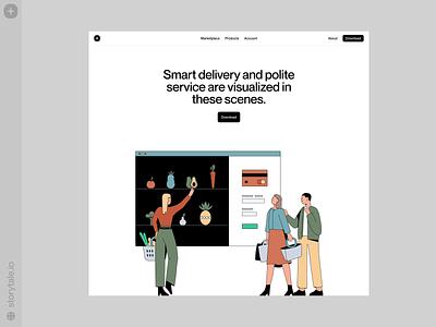 E-Commerce illustrations 🛒 sale e-commerce product web vector ui colorful storytale illustration design