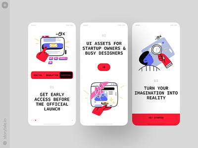 Nuts Illustrations 😍 nuts bright contrast outline app design app vector ui colorful storytale illustration design