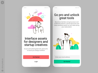 Easy Illustrations 🥰 characters bright easy ux app design product ui vector colorful storytale illustration design