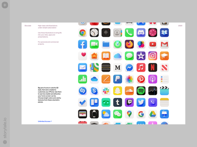 Caramel 3D Icons ❤️ app custom iphone icons bright 3d ux product ui colorful storytale illustration design