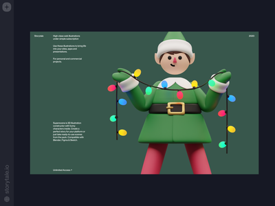Christmas 3D illustrations 🎄 superscene update holidays noel elf garland new year christmas 3d web product ui colorful storytale illustration design