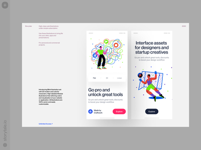 Blink Illustrations ✨ blink characters cool contrast web product vector ui colorful storytale illustration design