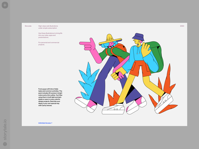 New Canny Illustrations 🥳 together relationships people bright colors bright release new canny friends travel contrast web branding product vector ui colorful storytale illustration design