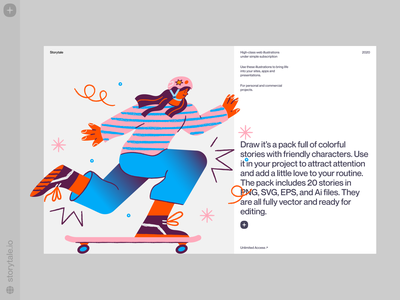 Draw Illustrations 🥰 handdrawn draw characters web product vector ui colorful storytale illustration design