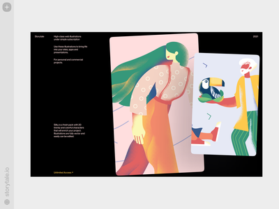 Silky Illustrations ✨ style grainy flat noisy sharp silky characters web product vector ui colorful storytale illustration design