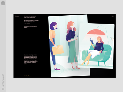 Nature Illustrations 🌿 noisy grainy nature dark theme dark web product vector ui colorful storytale illustration design