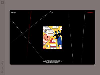 Superb illustrations 🖤 superb characters contrast web product ui colorful storytale illustration design
